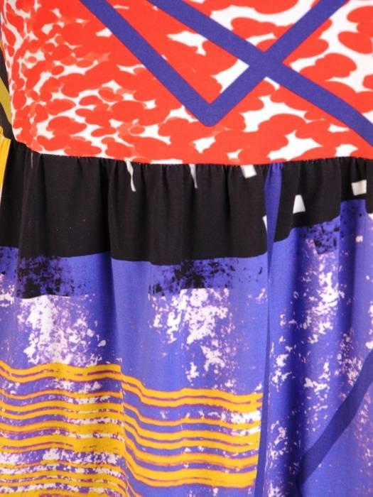 Letnia sukienka z bawełny, luźna kreacja z kieszeniami 30088