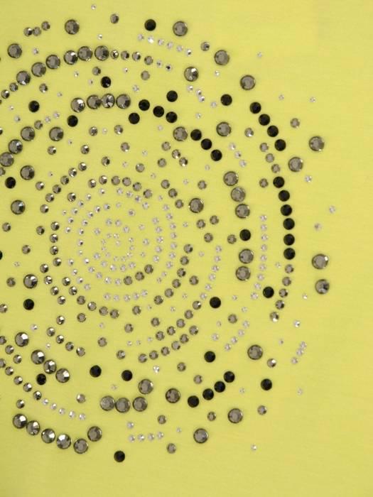 Limonkowa tunika z aplikacją z przodu 29863