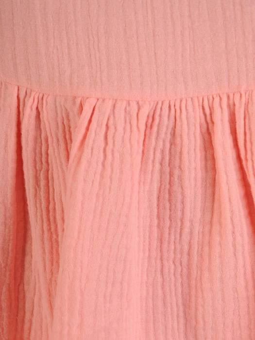 Łososiowa, luźna tunika w fasonie maskującym brzuch 29707