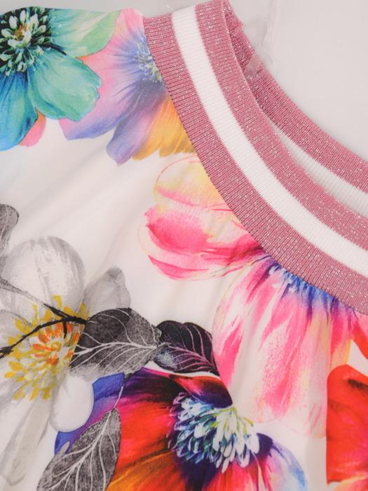 Luźna bluzka w duże, kolorowe kwiaty 20611