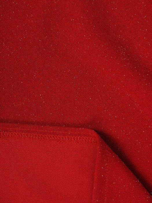 Luźna sukienka z kieszeniami, kreacja z połyskującej dzianiny 22659