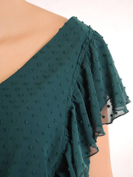 Luźna sukienka z modnymi falbankami, kreacja z szyfonu bubble 30240