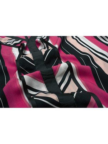 Modna bluzka w różowe pasy 15945.