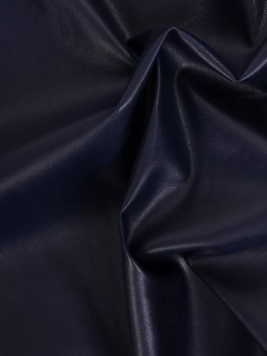 Modna granatowa sukienka z ekologicznej skóry 27820