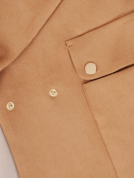 Modna krótka kurtka z kieszeniami  28774