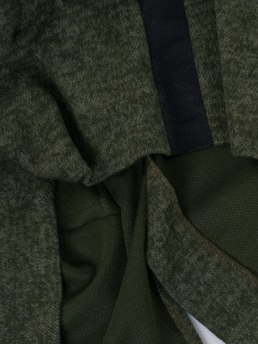 Modna sukienka ze skórzanymi lamówkami 14694, atrakcyjna kreacja wyszczuplająca.