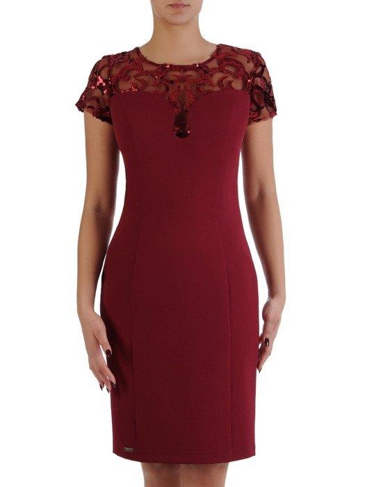 Nowoczesna sukienka z koronkowym karczkiem 18333.