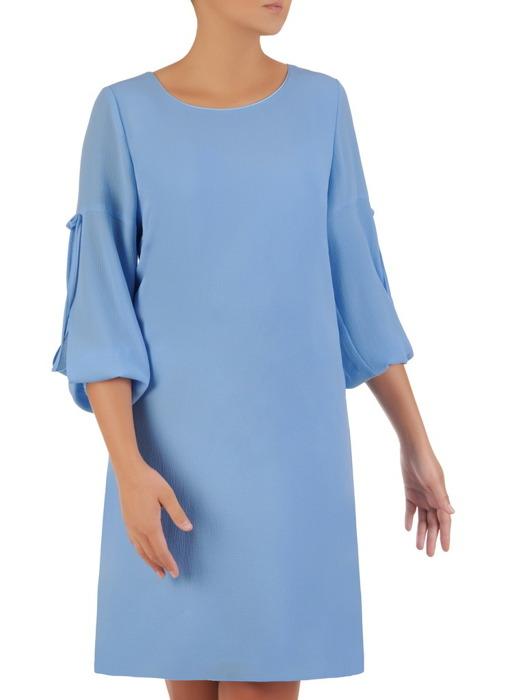 Nowoczesna sukienka z ozdobnie rozciętymi rękawami 21759