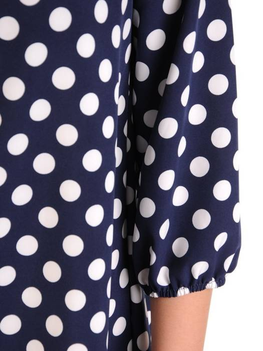 Oryginalna bluzka, tunika z gumką przy dekolcie 29505