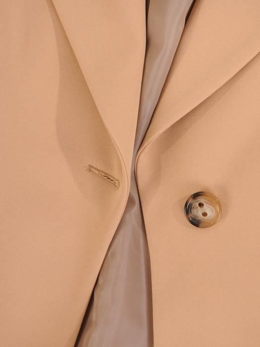 Płaszcz damski z regulującym talię wiązanym paskiem 29078