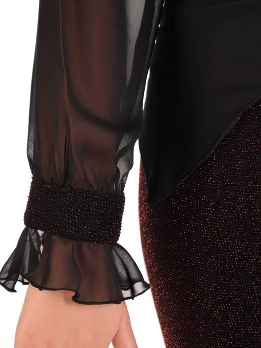 Połyskująca sukienka z ozdobnym, wyszczuplającym wiązaniem 27380