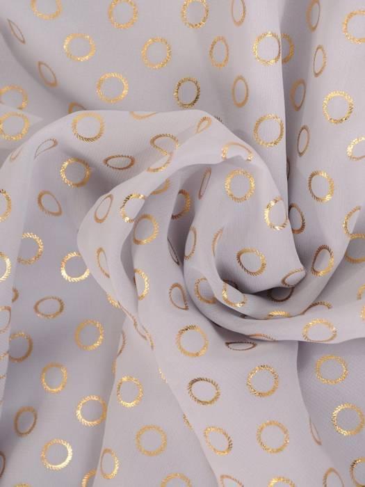 Popielata sukienka w połyskujące złote groszki  29071