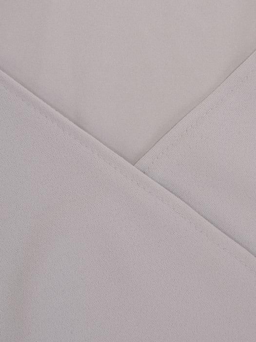Popielata sukienka z dzianiny, kreacja z kopertowym dekoltem 22416