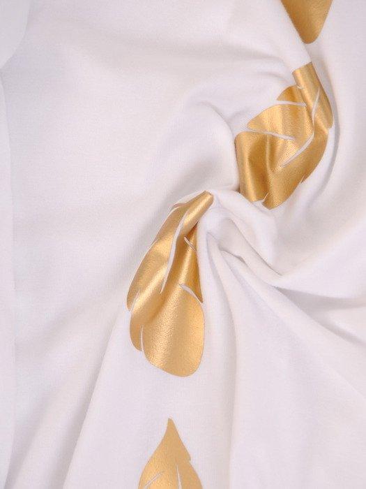 Prosta bluzka z błyszczącym wzorem 17749.