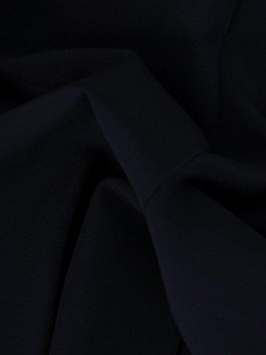 Prosta sukienka, granatowa kreacja z koronkowym tyłem 25971