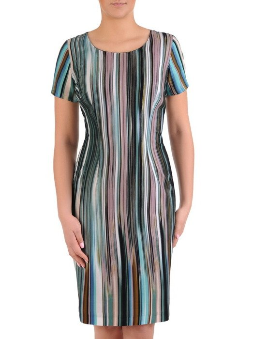 Prosta sukienka w paski, wyszczuplająca kreacja na wiosnę 19648