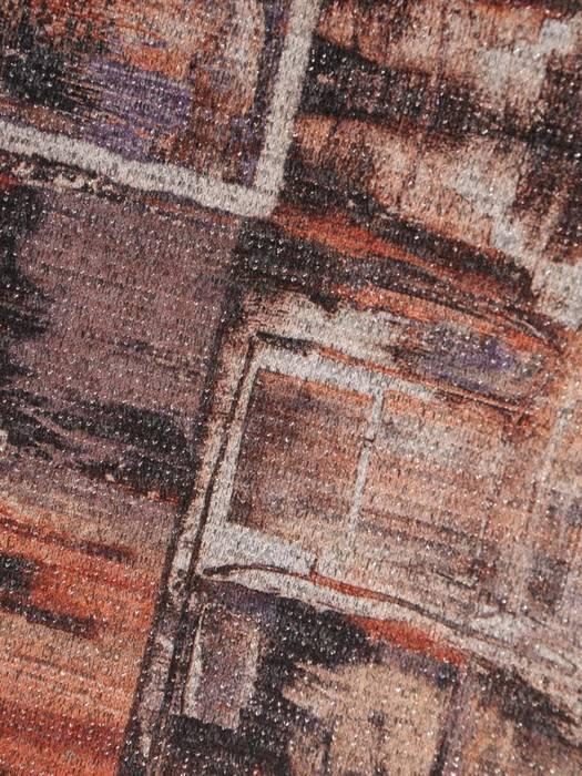 Prosta sukienka z dzianiny, jesienna kreacja w modny wzór 27703