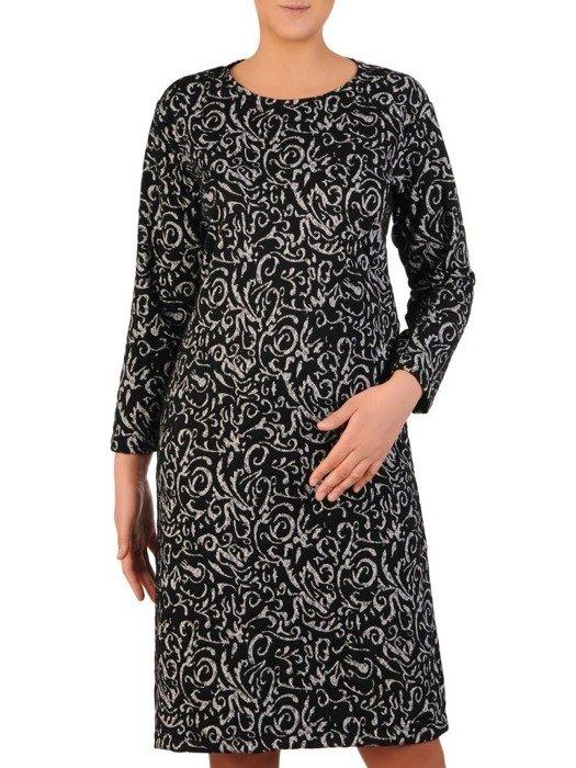 Prosta sukienka z dzianiny, kreacja w oryginalnym wzorze 23996