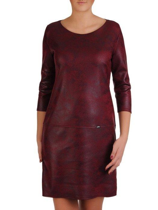 Prosta sukienka z dzianiny, nowoczesna kreacja z obniżoną talią 19139