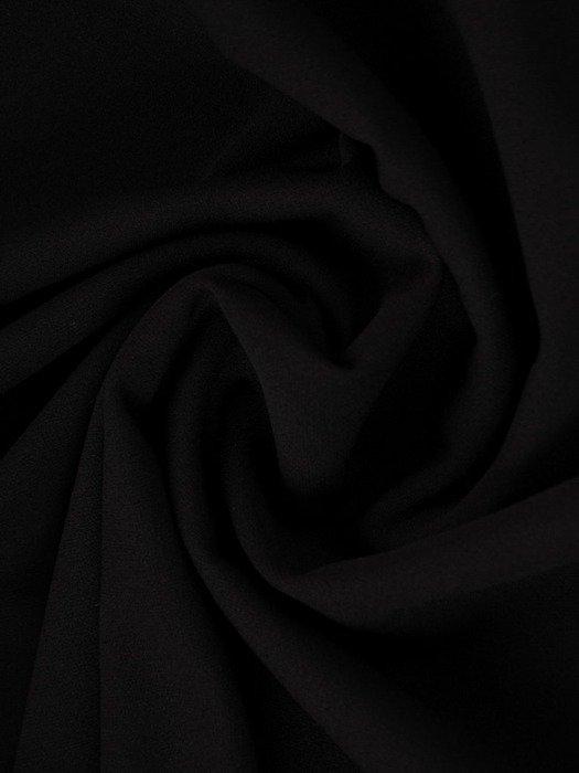 Prosta sukienka z głębokim dekoltem, czarna kreacja na jesień 22461