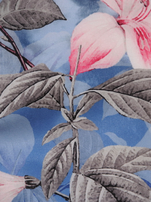 Prosta sukienka z roślinnym nadrukiem, modna kreacja na wiosnę 20331