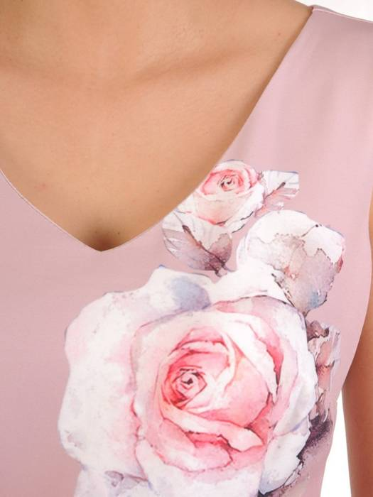 Prosta sukienka z szyfonową narzutką, elegancki komplet wizytowy 29033