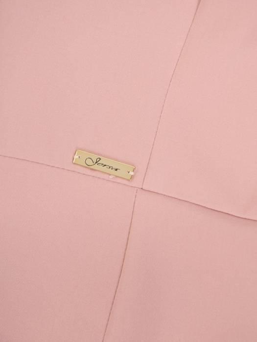 Pudrowa suknia z efektownym rozcięciem, nowoczesna kreacja wieczorowa 30165