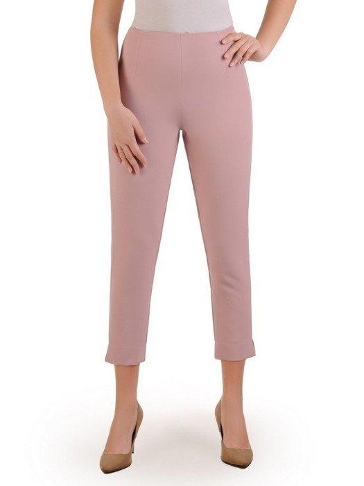 Pudrowe spodnie cygaretki 25770