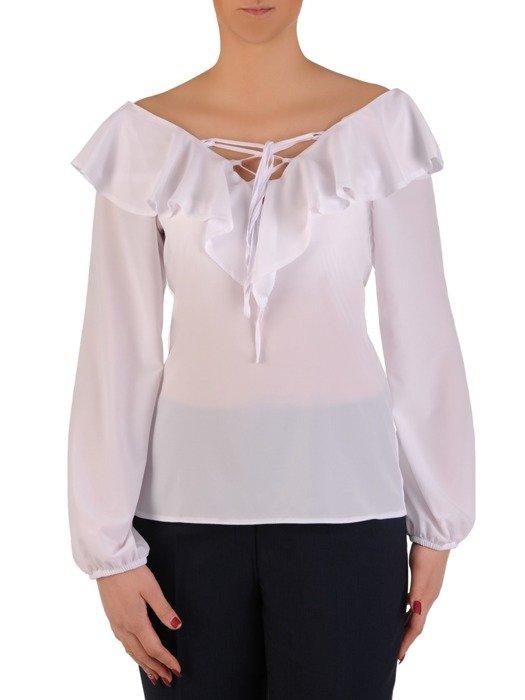 Romantyczna bluzka ze sznurowanym dekoltem 19226