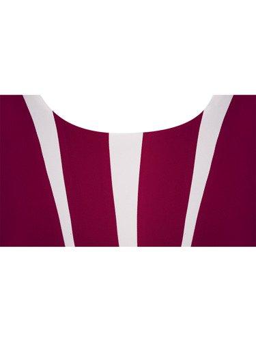 Rozkloszowana sukienka Astra IV, plisowana kreacja wizytowa.