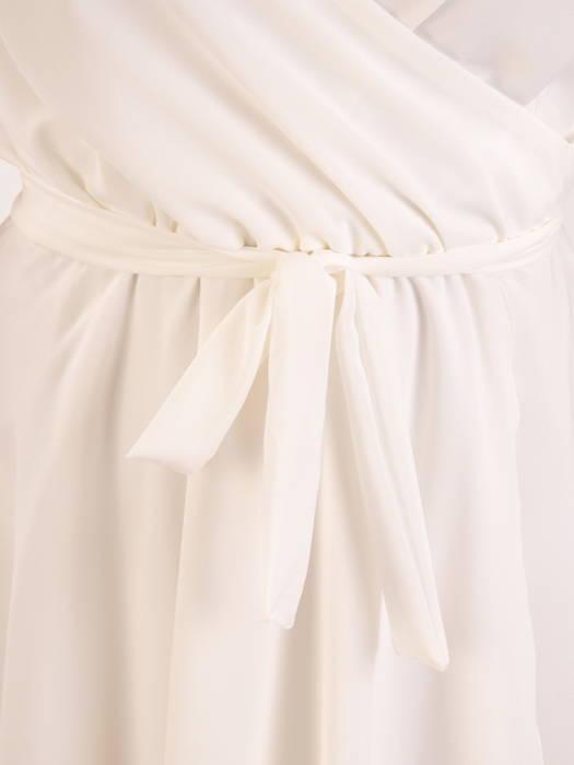 Rozkloszowana sukienka maxi, kreacja ze zwiewnego szyfonu 30406