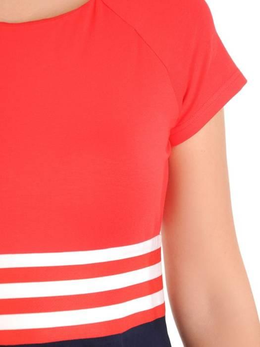 Rozkloszowana sukienka z kieszeniami, kreacja z łączonych materiałów 30048
