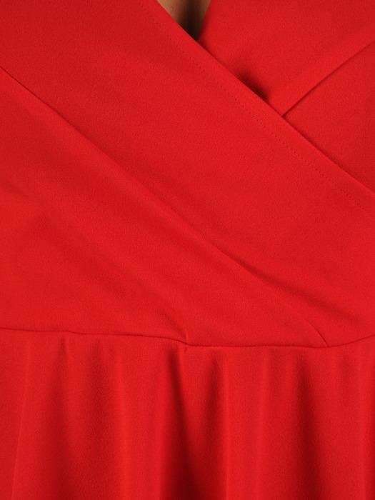 Rozkloszowana sukienka z kopertowym dekoltem 21825