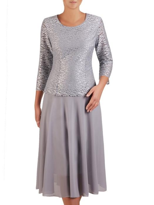 Rozkloszowana sukienka z kopertowym topem 21988