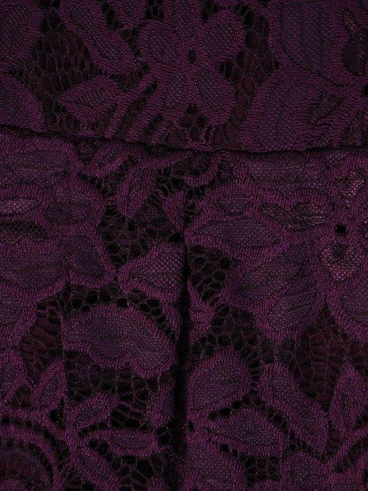 Rozkloszowana sukienka z koronki, modna kreacja z kontrafałdą 22629