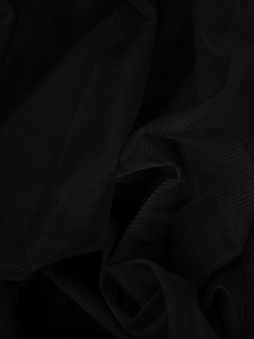 Rozkloszowana sukienka z tiulu i gipiury, czarna kreacja na wesele 22489