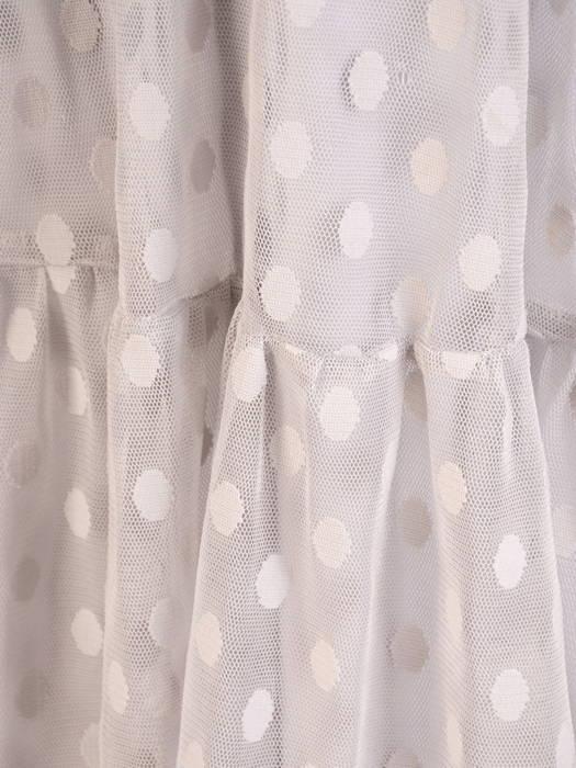 Rozkloszowana sukienka z tiulu w modne grochy 30284