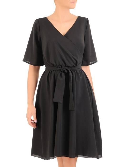 Rozkloszowana sukienka ze zwiewnego szyfonu 30312