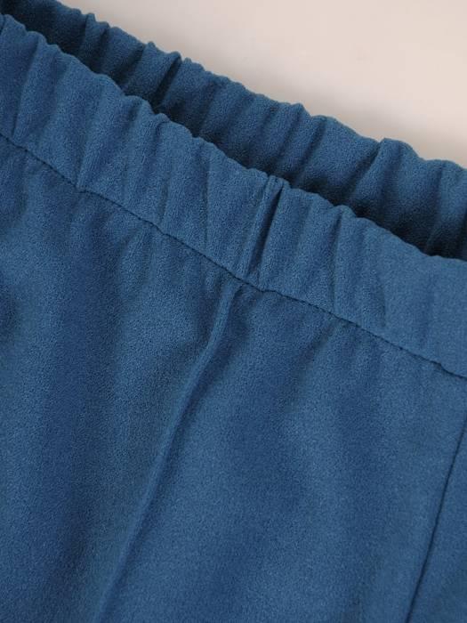 Spodnie damskie z przeszyciami i gumą w pasie 27334