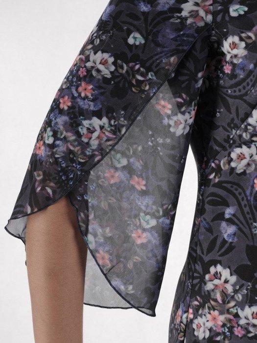 Sukienka damska 17401, zwiewna kreacja w kwiaty.