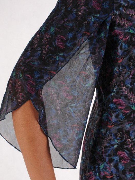 Sukienka damska 17411, zwiewna kreacja w fasonie do trapezu.