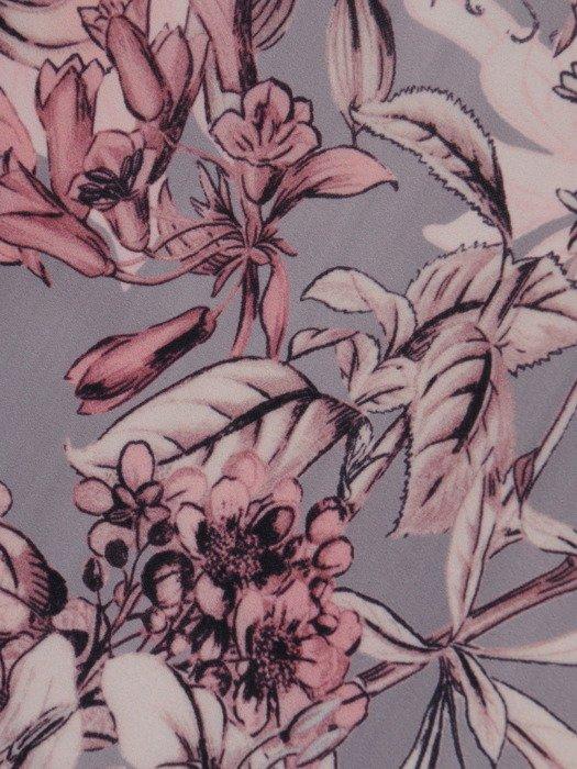 Sukienka damska 17611, dzianinowa kreacja w wyszczuplającym wzorze.