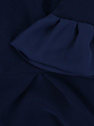 Sukienka damska Aladia II, granatowa kreacja z modnymi rękawami.