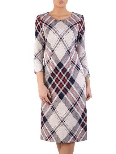 Sukienka damska Anitta II, jesienna kreacja w kratę.
