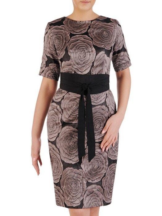 Sukienka damska Balwina III, elegancka kreacja wizytowa.