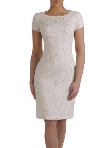 Sukienka damska Elfryda I, elegancka kreacja z tkaniny żakardowej.