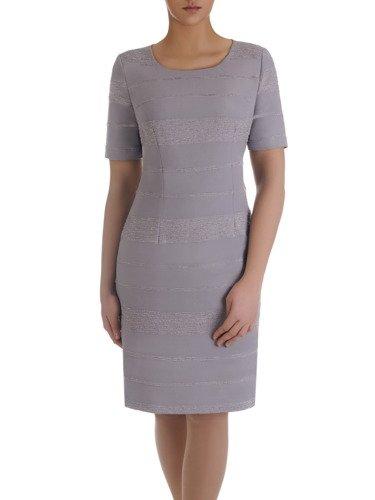 Sukienka damska Elidia I, jesienna kreacja z żakardowej tkaniny.