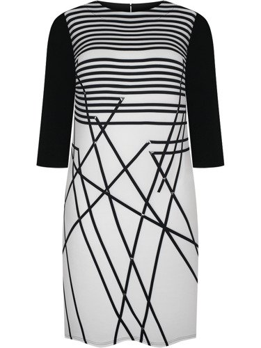 Sukienka damska Eufenia II, jesienna kreacja w prostym fasonie.
