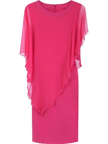 Sukienka damska Fransiska VI, elegancka kreacja w fasonie maskującym brzuch.