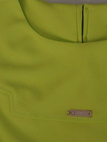 Sukienka damska Gertruda, prosta kreacja w modnym kolorze.